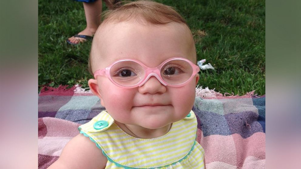 3e200045eb08 Baby Overjoyed After Trying on Glasses For the First Time - ABC News