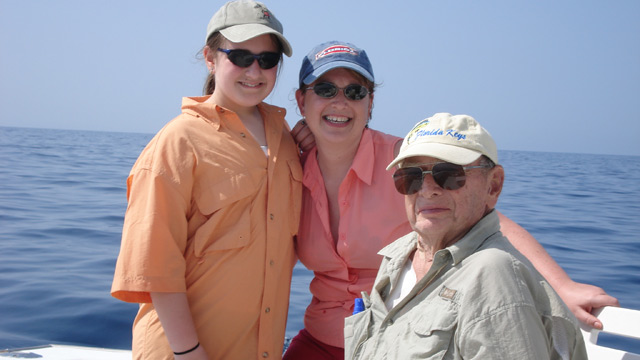 PHOTO: Lisa Salberg with her 17-year-old daughter Becca and her father Larry Flanigan Jr., all of whom were diagnosed with HCM. Flanigan died in 2008 of the disease.