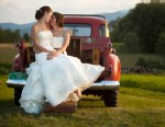 """PHOTO:Two brides planned a traditional white wedding in Vermont. This image was included in a new book, """"Enduring Love: The Art of Lesbian & Gay Wedding Photography."""""""