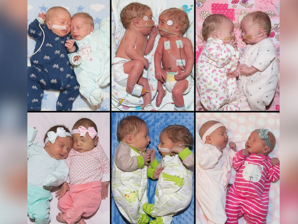 PHOTO: Noah and Kacie (top left); Peyton and Brooke (top middle); Sophia and Delia (top right); Kaylee and Kira (bottom left);Tyler and Aaron (bottom middle); Merrick and Lennon (bottom right)