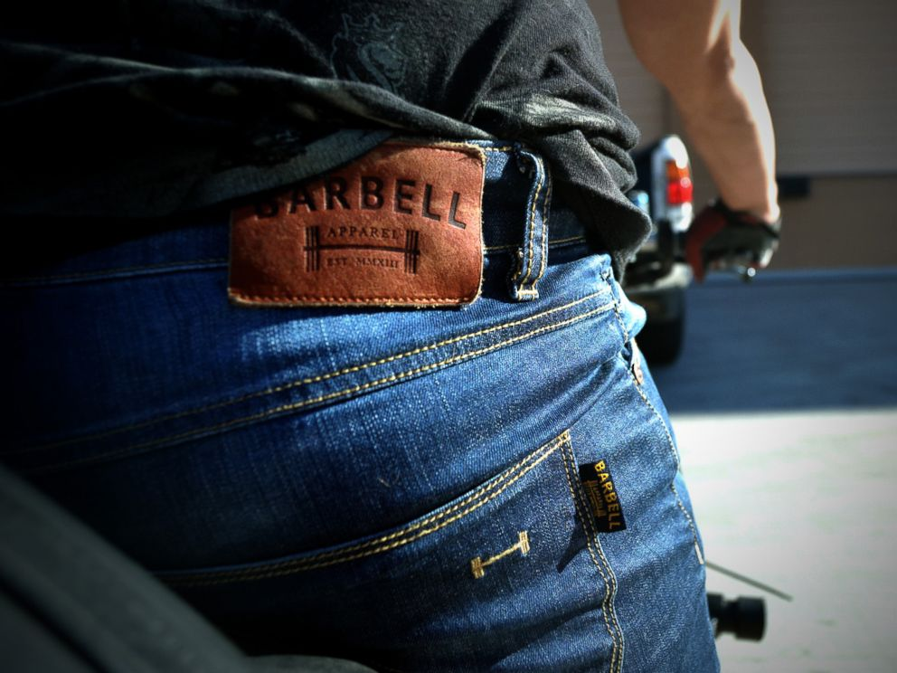 PHOTO: Barbell Jeans are designed to fit more athletic bodies.