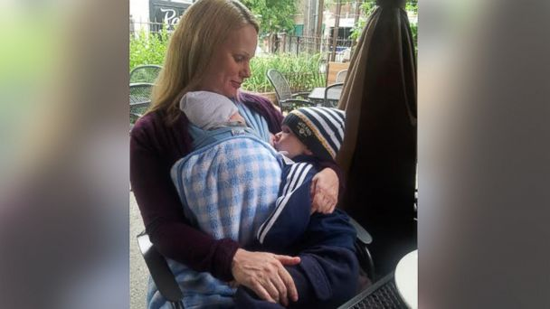 PHOTO: Abby Theuring started a breastfeeding blog that has grown to see 200,000 visitors a month.