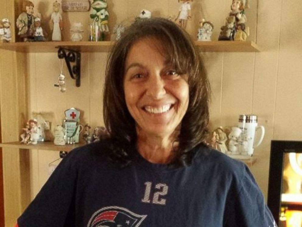 PHOTO: Cathy Nichols was diagnosed with terminal cancer. The Patriots gave her front row seats to the playoff game in January, 2015.