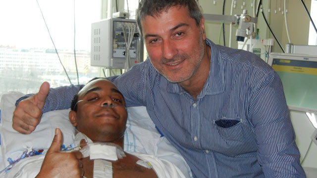 PHOTO: Christopher Lyles is the first U.S. patient to undergo a tracheal transplant using his own stem cells.