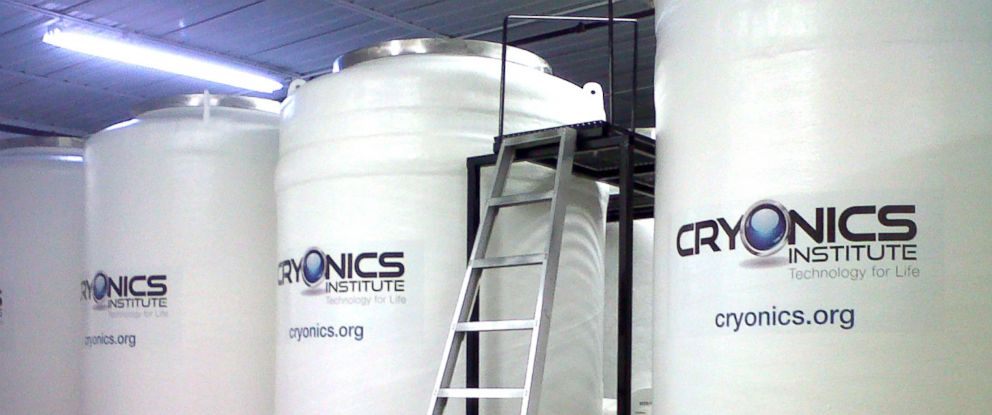 PHOTO: Cryonically frozen bodies are stored in these tanks of liquid nitrogen at the Cryonics Institute in Michigan. They work like a thermos and rely on little or no electricity.