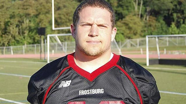 PHOTO:Derek Sheely, a 22-year-old a Frostburg State University football player, died after a football practice head injury.