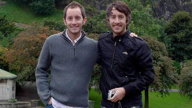 PHOTO: Twins Graham, right, and Britton Douglas reconnected on a trip to Scotland after living 2,500 miles apart for six years.