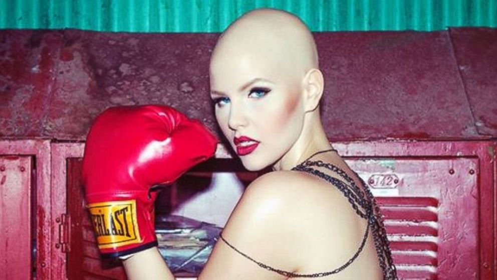 Elly Mayday got right back into modeling after chemotherapy took her hair.