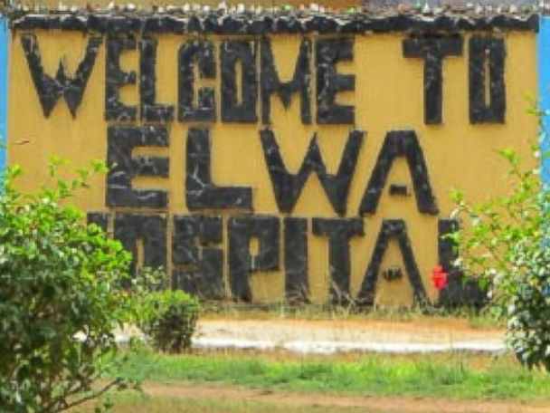 PHOTO: A sign for ELWA Hospital is pictured.