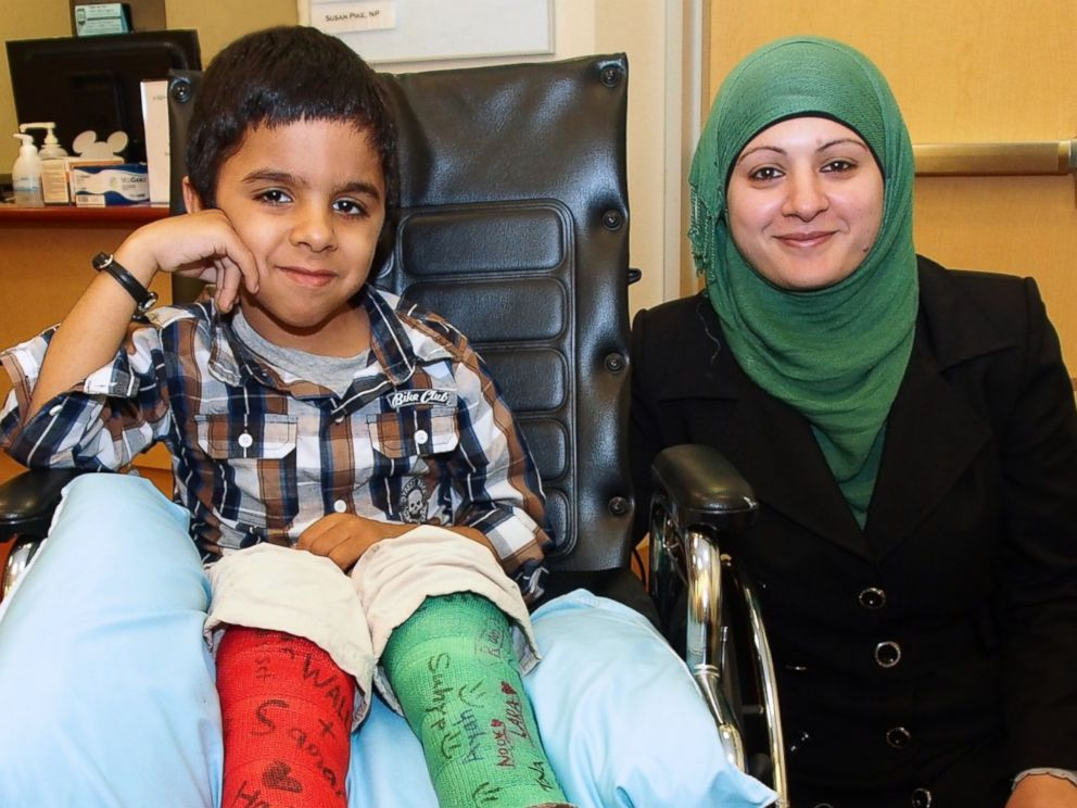 PHOTO: Hadi and his mother left their West Bank, Palestine home to go to Lucile Packard Childrens Hospital at Stanford University so he could undergo surgeries that would allow him to walk.