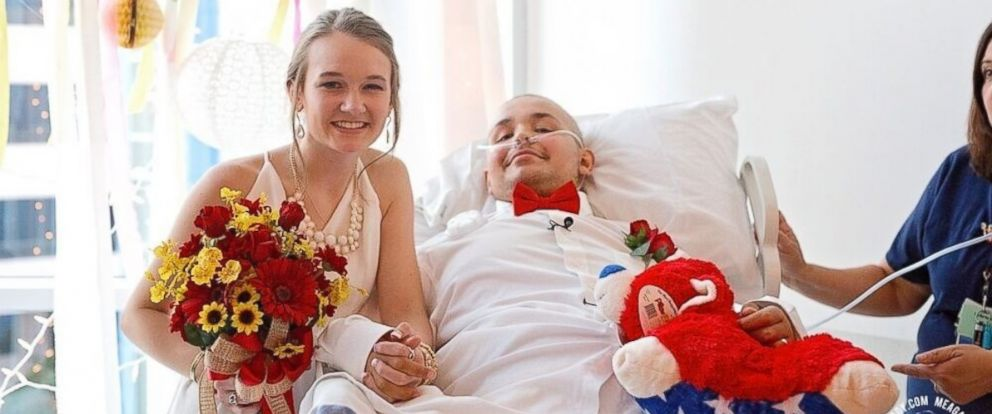 PHOTO: Abbi Ruicker and Swift Myers are pictured during their wedding at The Childrens Hospital at Saint Francis in Tulsa, Oklahoma, July 24, 2016.