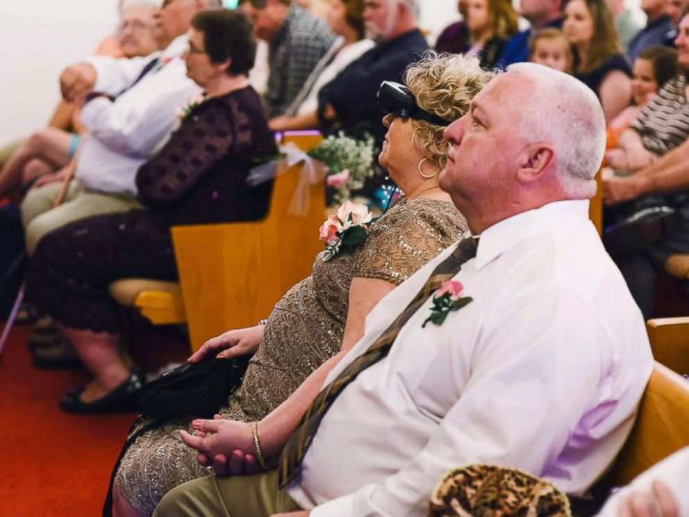 PHOTO: Joy Hoke, of Sellinsgrove, Pennsylvania, was able to see her daughter walk down the aisle after friends and family raised $15,000 to purchase a high-tech pair of glasses.