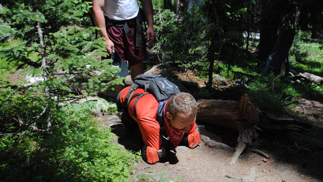 PHOTO:Kyle Maynard, 25, who was born without arms and legs, is seen hiking in Colorado in this file photo.