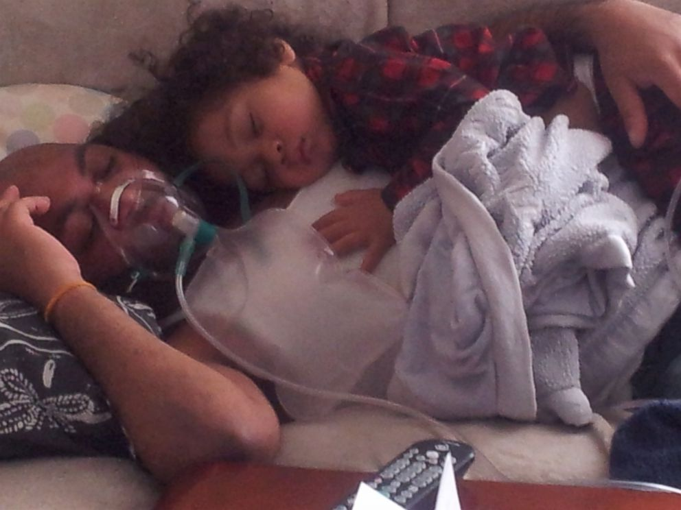 PHOTO: Lamont Valentin stays home with his son 18-month-old Mason.