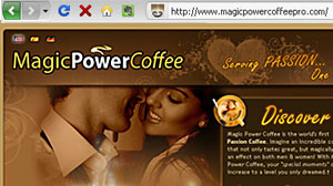 Photo: Dangerous Cup o Joe: Aphrodisiac Coffee Receives FDA Warning: Company Ignores FDAs Suggested Recall for Their Sexy Java