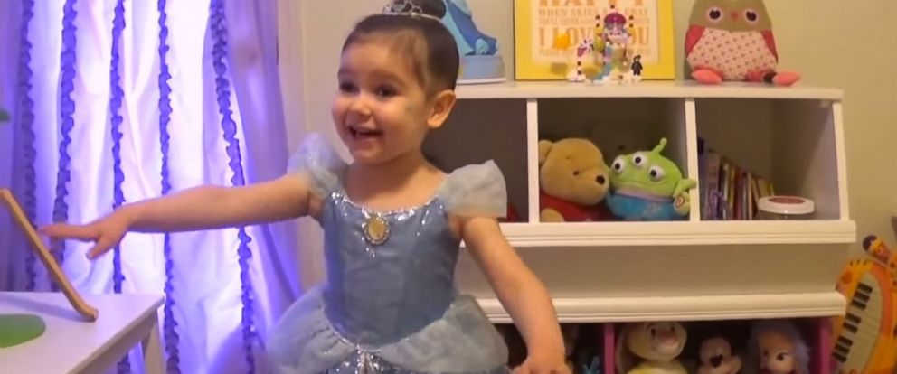 """PHOTO: An image form Make-A-Wish Americas video """"Juni, youre going to Disneyland"""" on YouTube."""