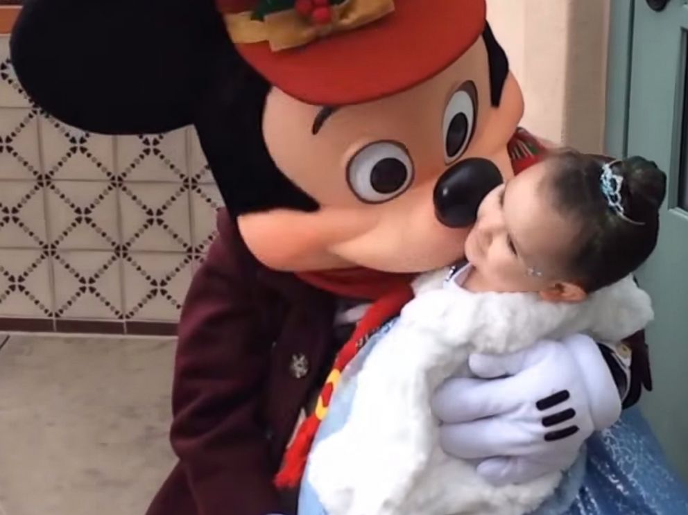 PHOTO: An image form Make-A-Wish Americas video Juni, youre going to Disneyland on YouTube.