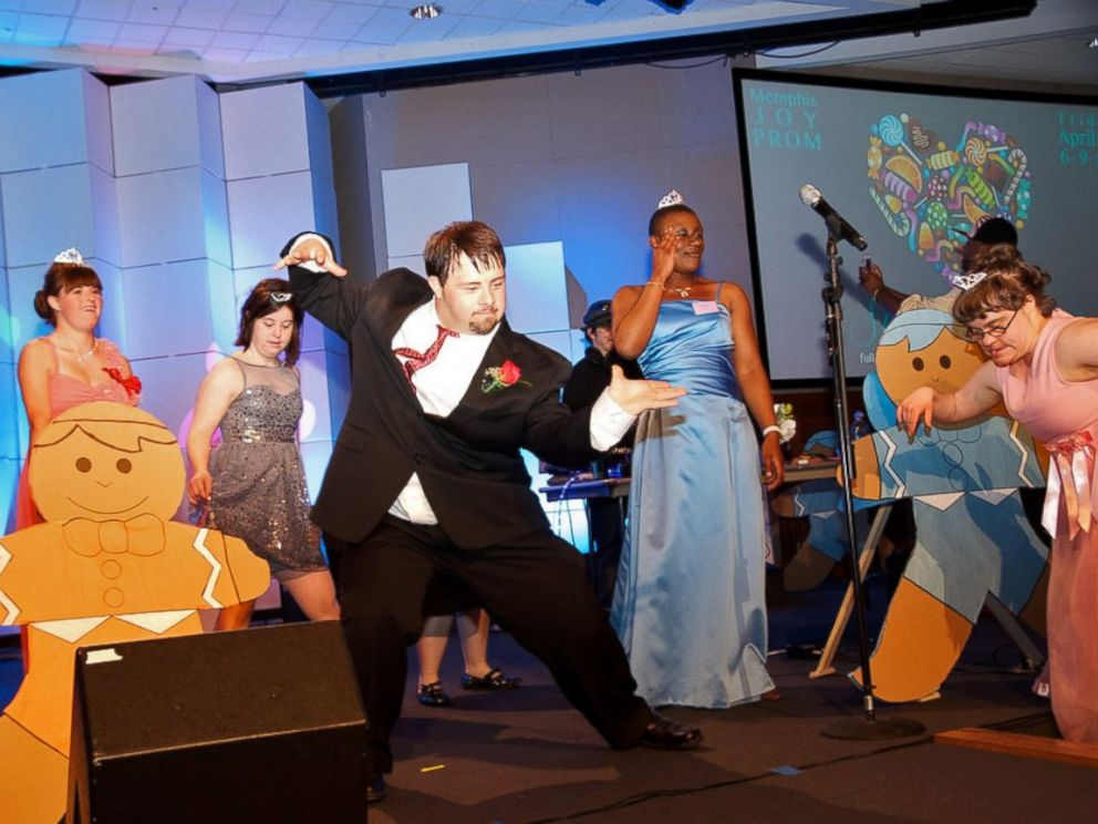 PHOTO: Attendees bust a move on the dance floor of a prom for people with disabilities.