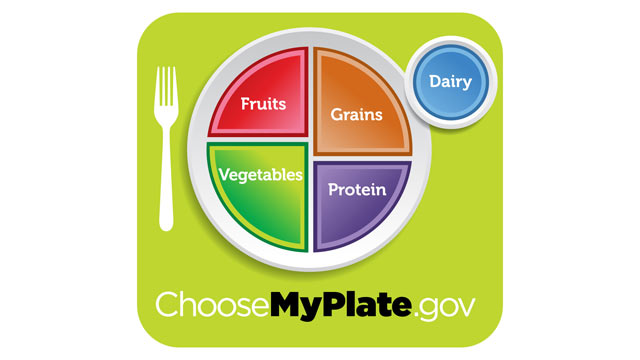 PHOTO: USDA unveils the new food icon, MyPlate, a simple reminder for healthy eating.