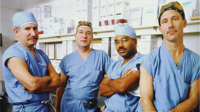 """PHOTO: Dr. Lewis Teperman (left), with other transplant surgeons at New York Universitys Langone Medical Center, says those with acute alcoholic hepatitis should get a """"second chance."""""""