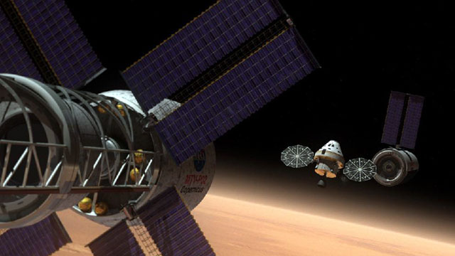 PHOTO: Artists rendering of the Orion Multi-Purpose Crew Vehicle (MPCV) on a deep space mission.