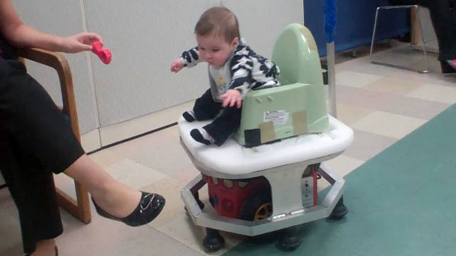 PHOTO: The WeeBot lets babies explore their environment before they can walk.