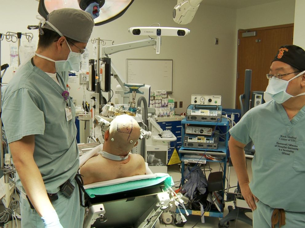 PHOTO: The surgical team at Keck Medicine of USC, working in close collaboration with Caltech and Rancho Los Amigo National Rehabilitation Center, performed the unprecedented neuroprosthetic implant in a five-hour surgery on April 17, 2013.