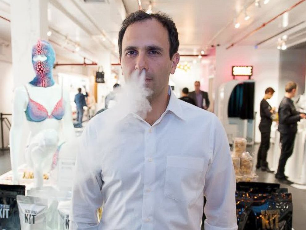 PHOTO: Daniel Gluck, Owner of the Museum of Sex and co-sponsor of the Vape In protest event, April 28, 2014.