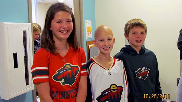 PHOTO: Brooke, Megan and Nicholas -- were delivered by gestational carrier Meredith Olafson in 1999. Megan is in remission undifferentiated embryonal sarcoma.