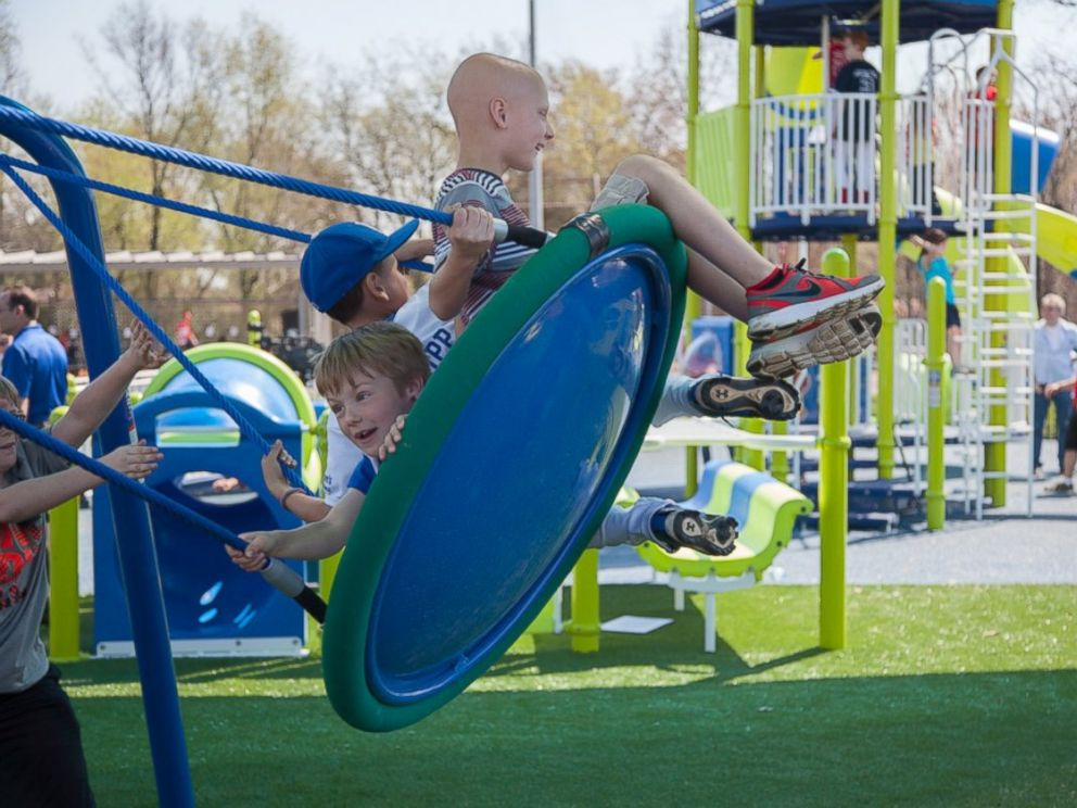 PHOTO: Miracle Recreation built the specially designed playground for the Long brothers in White House, Tenn.