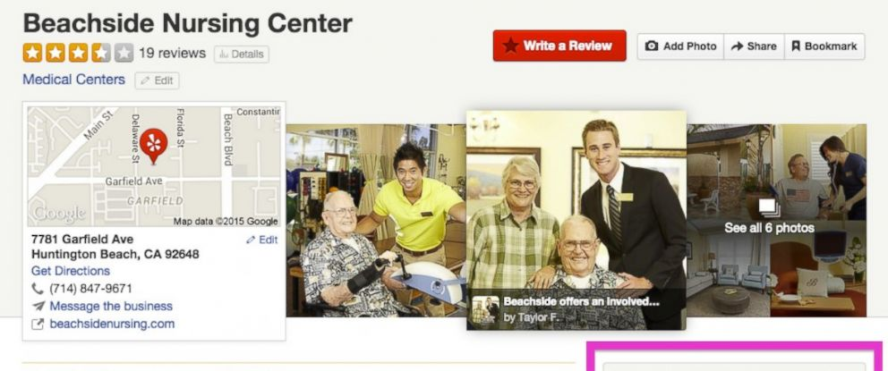 PHOTO: This image was included in an announcement by Yelp that the site has launched a new initiative to use Medicare data to add more information about medical providers.