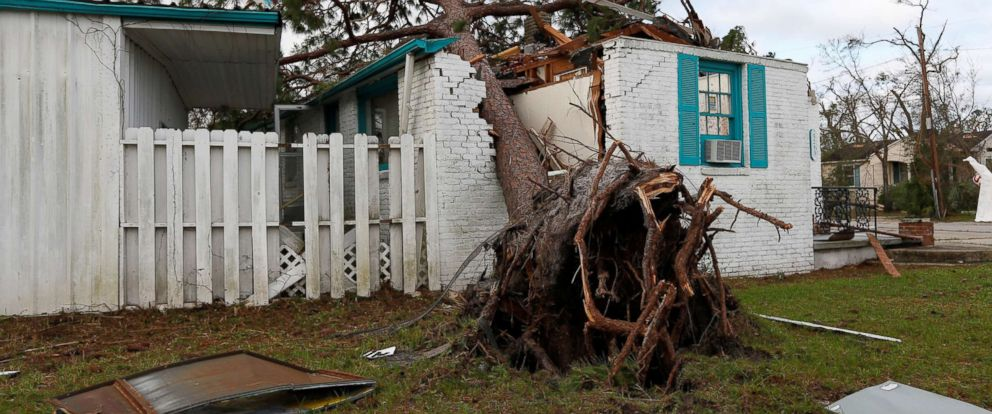 PHOTO: A house damaged by Hurricane Michael is seen in Panama City, Fla. Oct. 11, 2018.