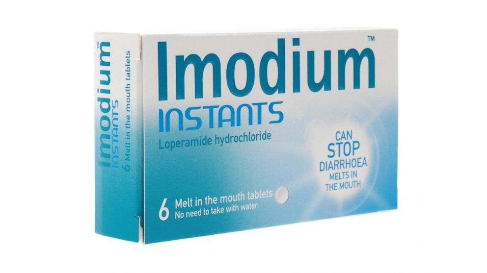 A package of Imodium Instants diarrhea tablets are pictured in this undated file photo.