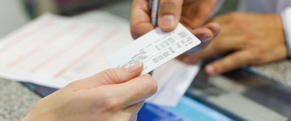 PHOTO: Health insurance card.