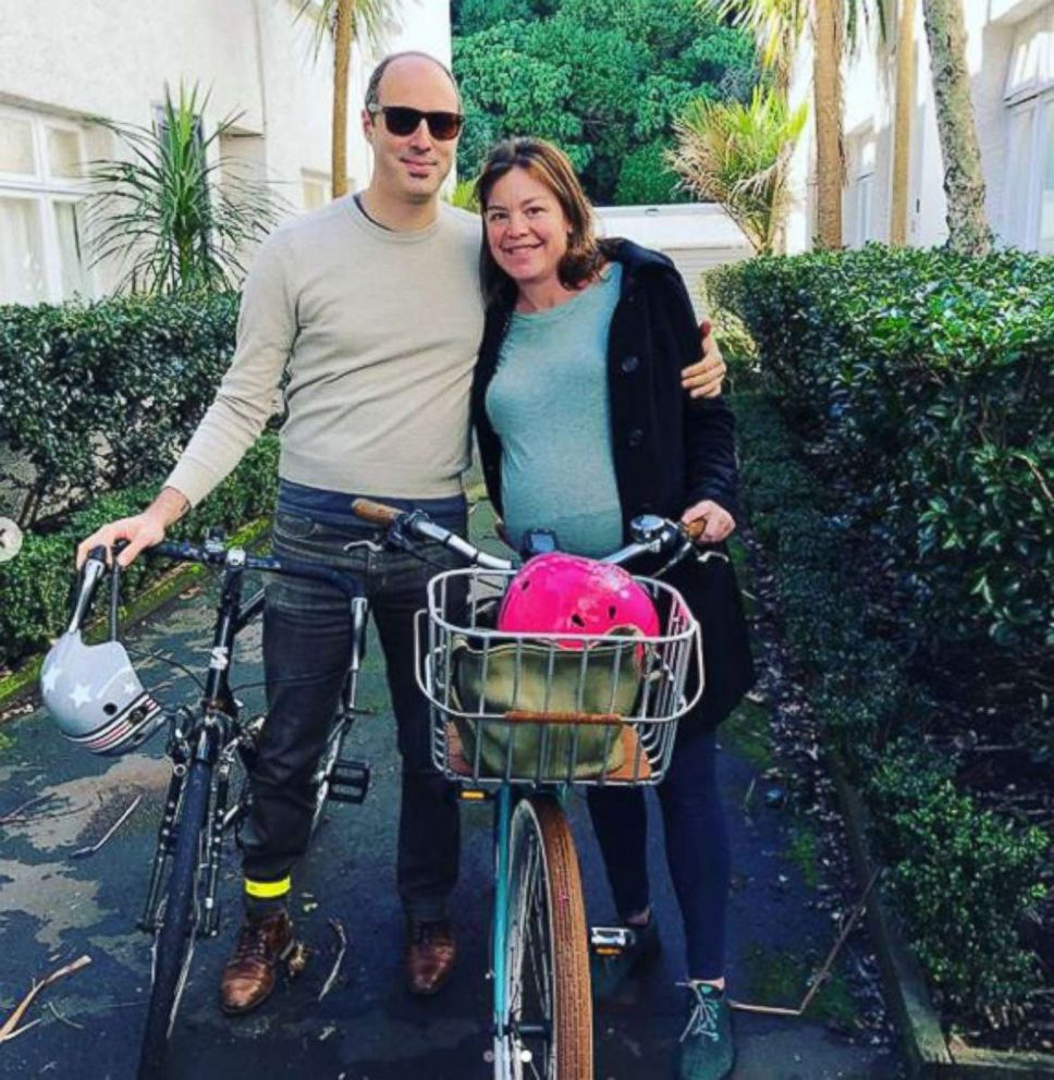 PHOTO: New Zealands Minister for Women, Julie Anne Genter, is pictured after biking her way to a hospital for the birth of her first child in Auckland, Aug. 19, 2018.