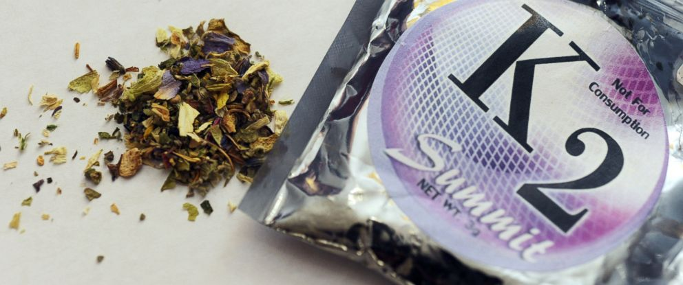 PHOTO: A package of K2, a concoction of dried herbs sprayed with chemicals, also known as synthetic marijuana.