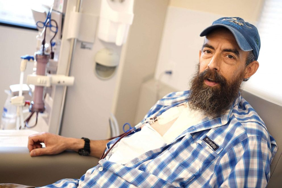 PHOTO: Sovereign Valentine, a personal trainer in Plains, Mont., needs dialysis for his end-stage renal disease.