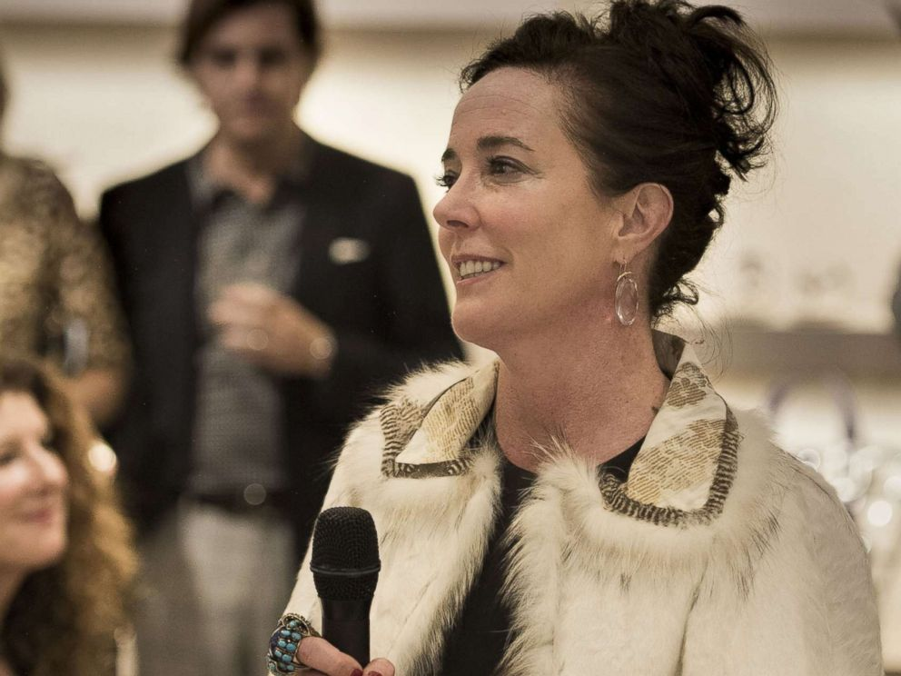 PHOTO: Kate Spade speaks during an event, March 9, 2016 in Kansas City, Mo.
