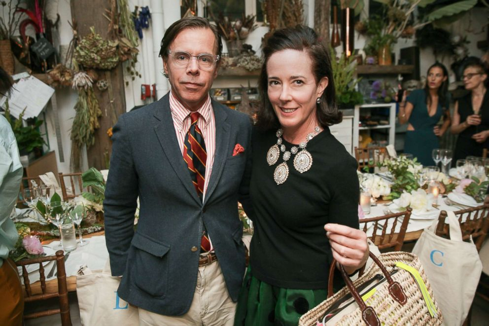Andy Spade and Kate Spade attend an event in New York City, June 9, 2014.