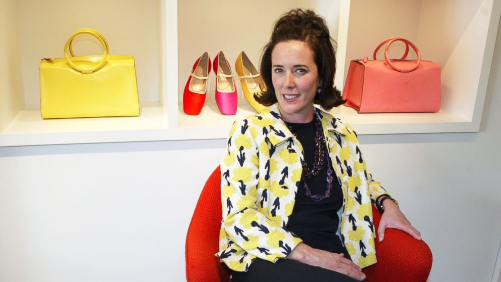 This May 13, 2004 file photo shows designer Kate Spade during an interview in New York.