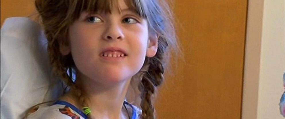 PHOTO: Sophia Angelini injured her kidney after tripping over her shoelaces at school. She is now recovering.