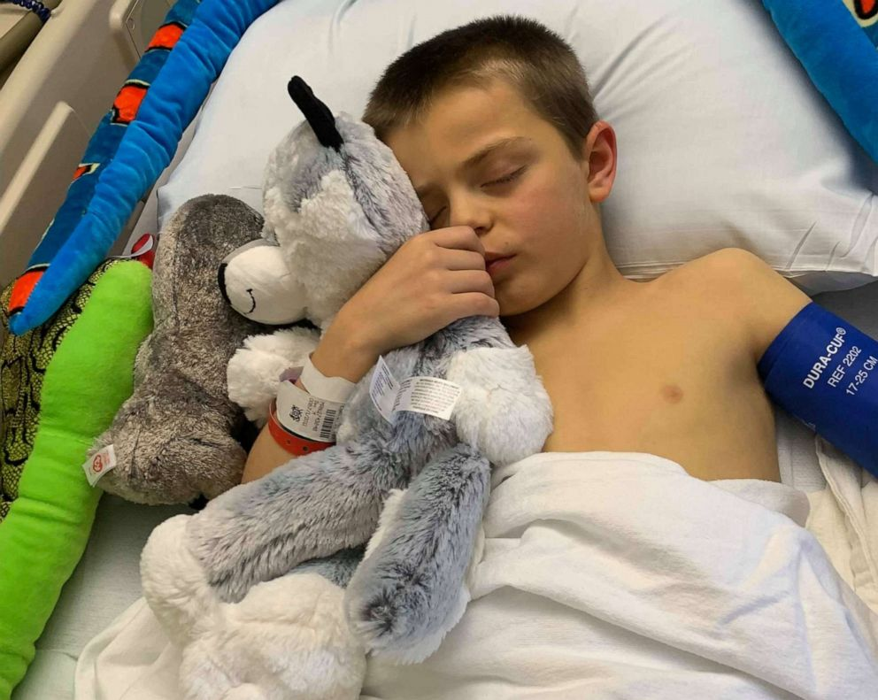 PHOTO: Brayden Auten, 8, of Wrightstown, Wisconsin, learned he needed a liver transplant in April after he got sick quickly and was admitted to Childrens Hospital of Milwaukee.