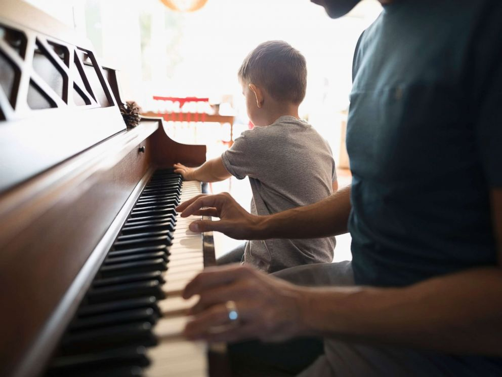 PHOTO: A child is seen pictured playing a piano seen this undated stock photo.