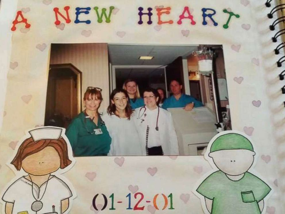 PHOTO: Kristin Marx received a new heart in January 2001.