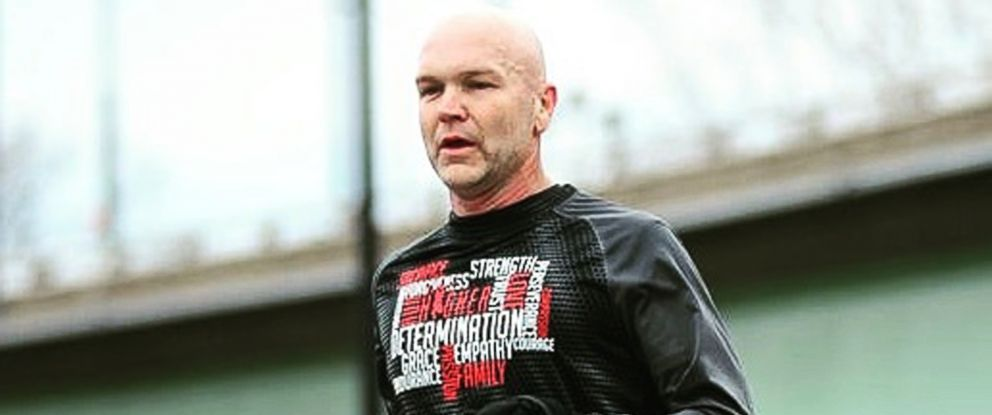 PHOTO: Andy Bell, 45, is photographed while running a distance race.