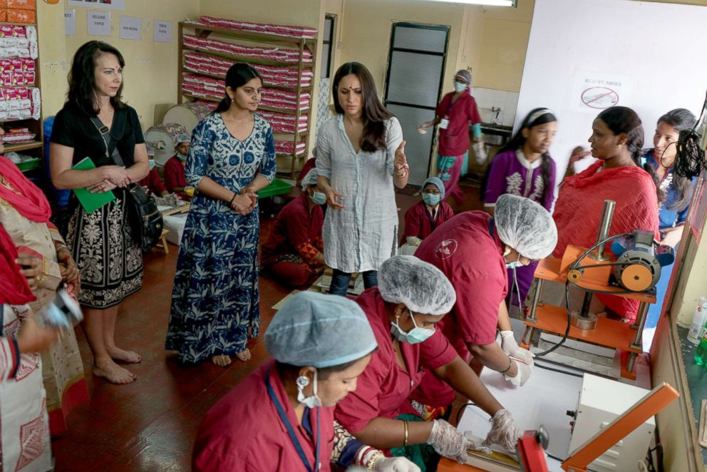PHOTO: Meghan Markle has made menstrual hygiene an important cause she promotes.
