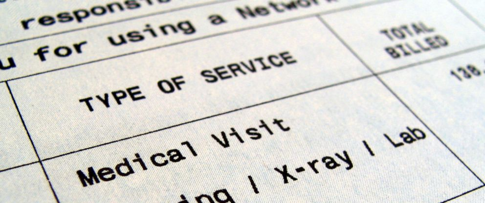 PHOTO: An undated stock photo of a medical bill.