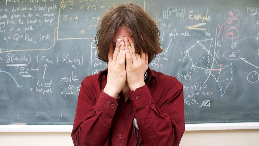 A college student experiences stress in this undated stock photo.