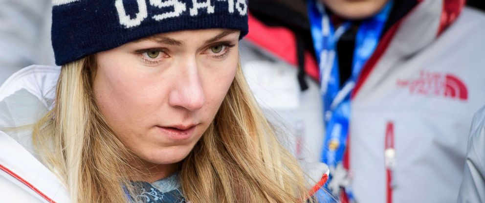 PHOTO: Mikaela Shiffrin reacts after the second run of the womens slalom race at the Yongpyong Alpine Centre during the Pyeongchang 2018 Olympic Games in South Korea on Feb. 16,018.