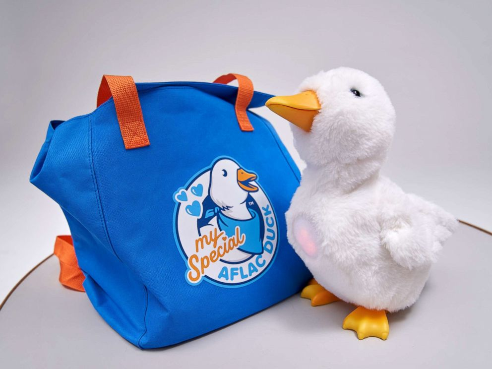 meet my special aflac duck who brings smiles to the faces of kids